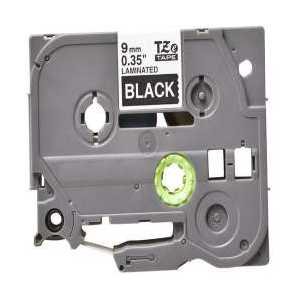Compatible Brother TZe325 label tape for P-Touch - 9mm White on Black