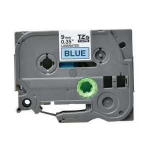 Compatible Brother TZe521 label tape for P-Touch - 9mm Black on Blue