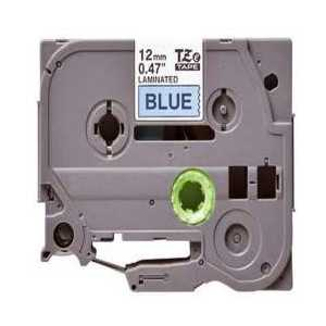 Compatible Brother TZe531 label tape for P-Touch - 12mm Black on Blue
