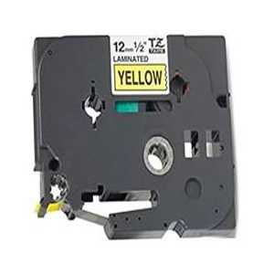 Compatible Brother TZe631 label tape for P-Touch - 12mm Black on Yellow