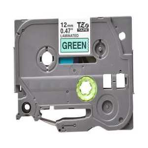 Compatible Brother TZe731 label tape for P-Touch - 12mm Black on Green
