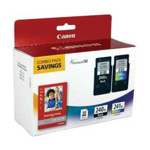 Original Canon PG-240XL, CL-241XL ink cartridges, 50 Photo Paper Sheets, High Yield, 5206B005