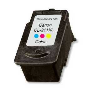 Remanufactured Canon CL-211XL Color ink cartridge, High Yield