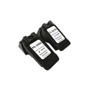 Remanufactured Canon PG-240XL, CL-241XL ink cartridges, 2 pack