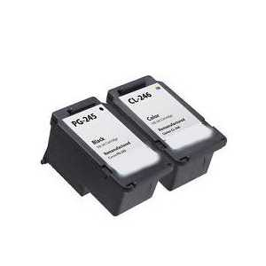 Remanufactured Canon PG-245, CL-246 ink cartridges, 2 pack