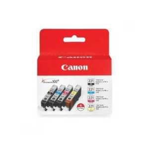 Original Canon CLI-221 ink cartridges, 2946B004, 4 pack