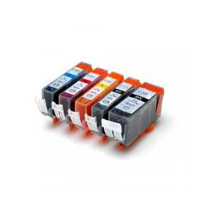 Compatible Canon CLI-221, PGI-220 ink cartridges, 5 pack