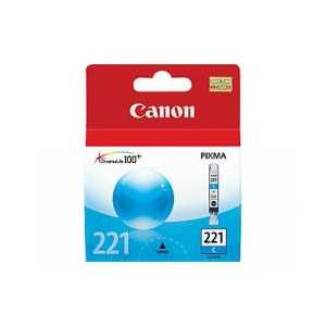 Original Canon CLI-221C Cyan ink cartridge, 2947B001