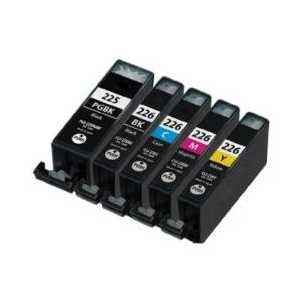 Compatible Canon CLI-226, PGI-225 ink cartridges, 5 pack