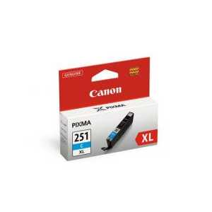 Original Canon CLI-251C XL Cyan ink cartridge, 6449B001