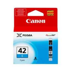 Original Canon CLI-42 Cyan ink cartridge, 6385B002