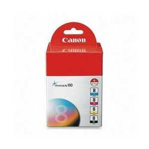Original Canon CLI-8 ink cartridges, 0620B010, 4 pack