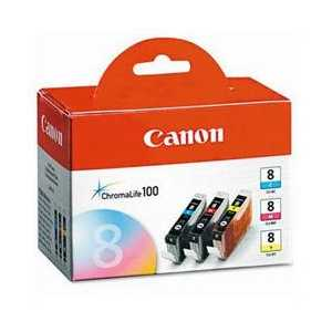 Original Canon CLI-8 ink cartridges, 0621B016, 3 pack