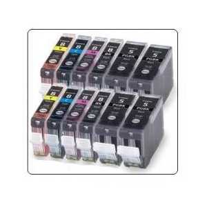 Compatible Canon CLI-8, PGI-5 ink cartridges, 12 pack