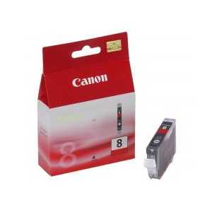 Original Canon CLI-8R Red ink cartridge, 0626B002