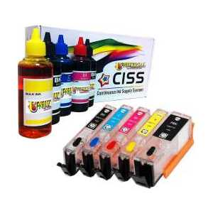 CIC refillable ink cartridges for Canon PGI-270 / CLI-271, auto reset, 500ml ink, 5 pack
