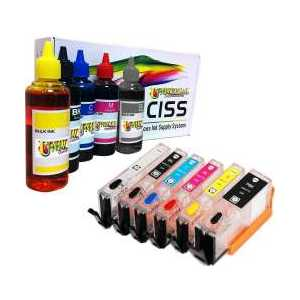 Compatible refillable ink cartridges for Canon PGI-270 / CLI-271, auto reset, 600ml ink, 6 pack