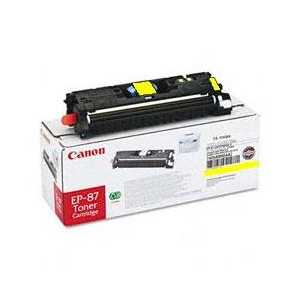 Original Canon EP-87 Yellow toner cartridge, 7430A005AA, 4000 pages