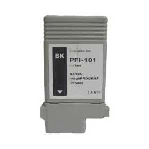 Compatible Canon PFI-101BK Black ink cartridge