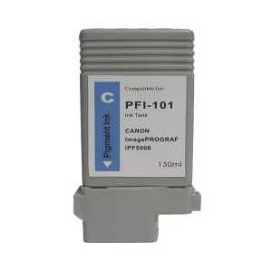 Compatible Canon PFI-101C Cyan ink cartridge