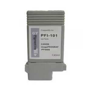 Compatible Canon PFI-101GY Gray ink cartridge