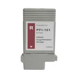 Compatible Canon PFI-101R Red ink cartridge