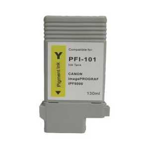 Compatible Canon PFI-101Y Yellow ink cartridge