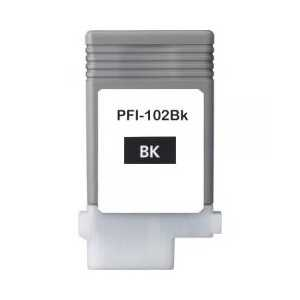 Compatible Canon PFI-102BK Black ink cartridge