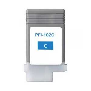 Compatible Canon PFI-102C Cyan ink cartridge