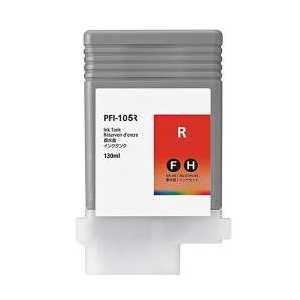 Compatible Canon PFI-105R Red ink cartridge