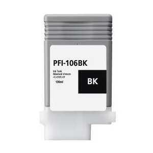 Compatible Canon PFI-106BK Black ink cartridge