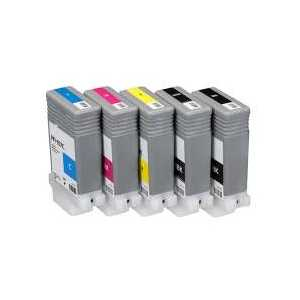 Compatible Canon PFI-107 ink cartridges, 5 pack