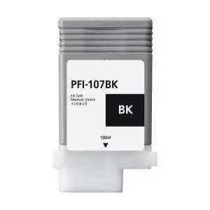 Compatible Canon PFI-107BK Black ink cartridge