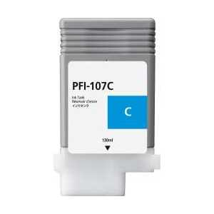 Compatible Canon PFI-107C Cyan ink cartridge