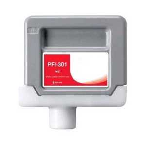 Compatible Canon PFI-301R Red ink cartridge