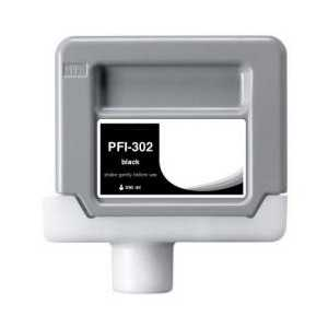 Compatible Canon PFI-302BK Black ink cartridge