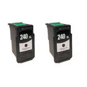 Remanufactured Canon PG-240XL ink cartridges, 2 pack