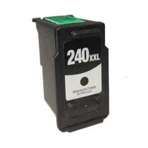 Remanufactured Canon PG-240XXL Black ink cartridge, Extra High Yield