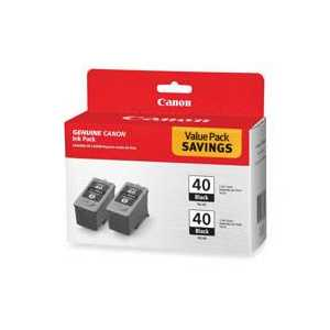 Original Canon PG-40 ink cartridges, 0615B013, 2 pack