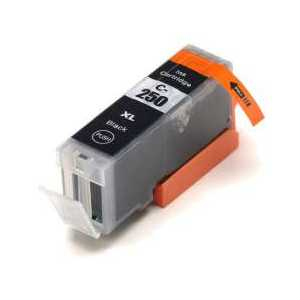Compatible Canon PGI-250 XL Black ink cartridge, High Yield