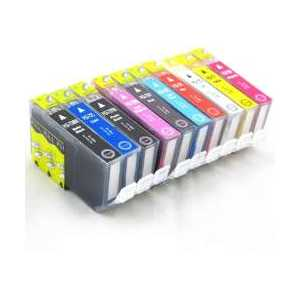 Compatible Canon PGI-72 ink cartridges, 10 pack