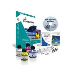 Uni-Kit Color Inkjet Refill Kit - 32ml each cyan, magenta, yellow ink