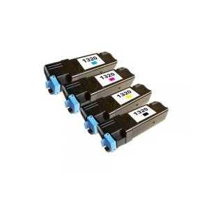 Compatible Dell 1320 toner cartridges, High Yield, 4 pack