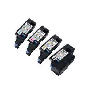 Compatible Dell 1250, 1350, 1355, C1760, C1765 toner cartridges, High Yield, 4 pack