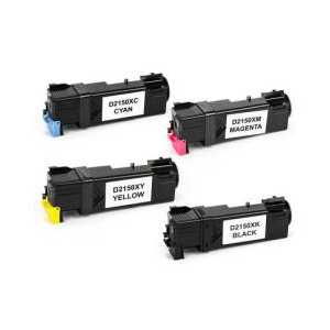 Compatible Dell 2150, 2155 toner cartridges, High Yield, 4 pack