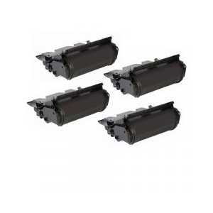 Dell 5230, 5350 Black High Capacity compatible toner cartridges - 330-6991, F362T - 4-pack