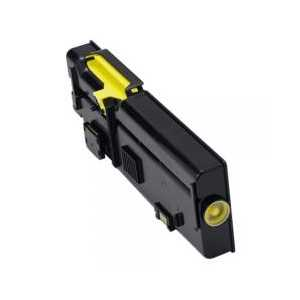 Compatible Dell C2660, C2665 Yellow toner cartridge, High Yield, 593-BBBR, YR3W3, 4000 pages