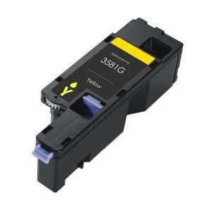 Compatible Dell E525 Yellow toner cartridge, MWR7R, 593-BBJW, 1400 pages