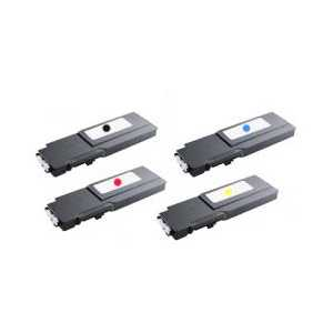 Compatible Dell C3760, C3765 toner cartridges, Extra High Yield, 4 pack