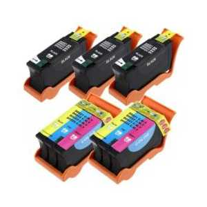 Compatible Dell Series 24 ink cartridges, 5 pack